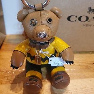 Coach X Peanuts Charlie Brown Bear Collectible NWT